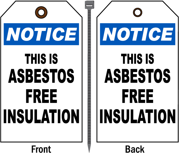 This Is Asbestos Free Insulation Tag