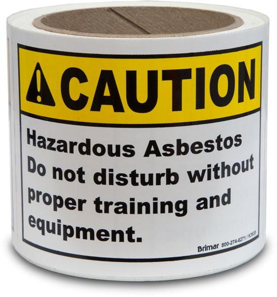 Caution Hazardous Asbestos Labels