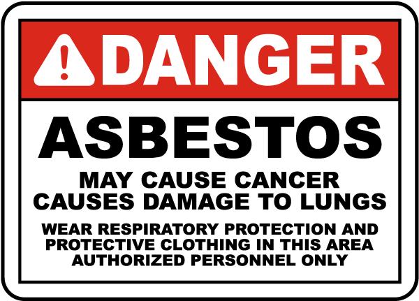 OSHA Compliant Asbestos Wear PPE Sign