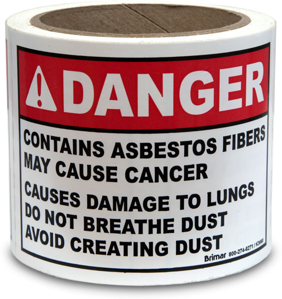 OSHA Compliant Asbestos Labels