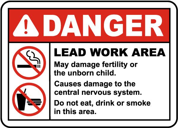 OSHA Lead Work Area Sign