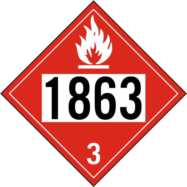 UN # 1863 Class 3 Flammable Liquid