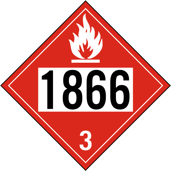 UN # 1866 Class 3 Flammable Liquid