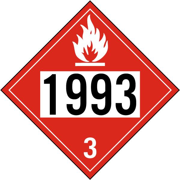 UN # 1993 Class 3 Flammable Liquid