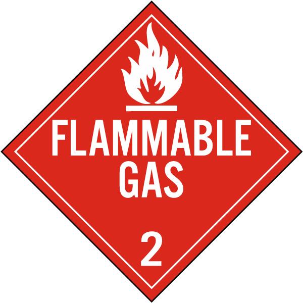 Flammable Gas Class 2 Placard