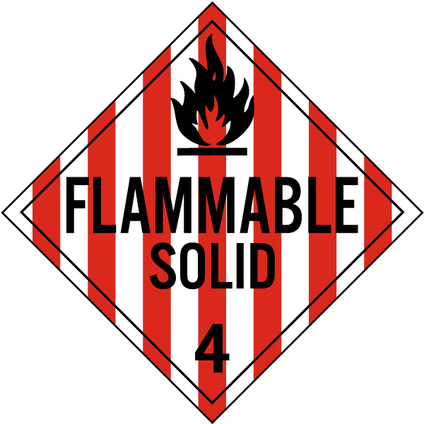 Flammable Solid Class 4 Placard