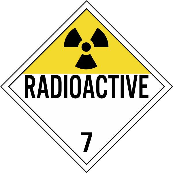 radioactive class 7 placard k5633 by safetysign com
