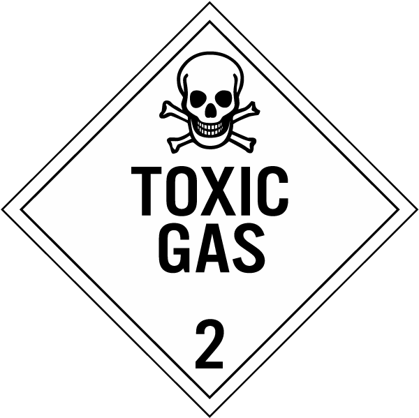 Toxic Gas Class 2 Placard