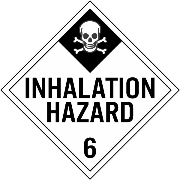 Hazardous Material Diamond: Inhalation Hazard Class 6 Placard K5652