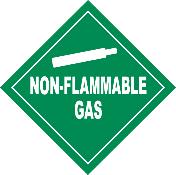 Non-Flammable Gas DOT Placard