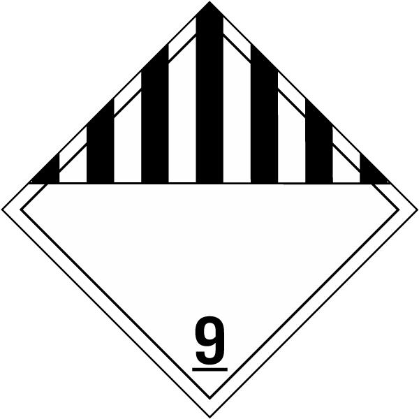 Hazardous Material Diamond: Class 9 Miscellaneous Hazardous Materials K5658