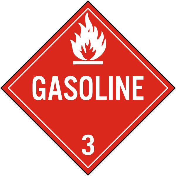 Gasoline Class 3 Placard
