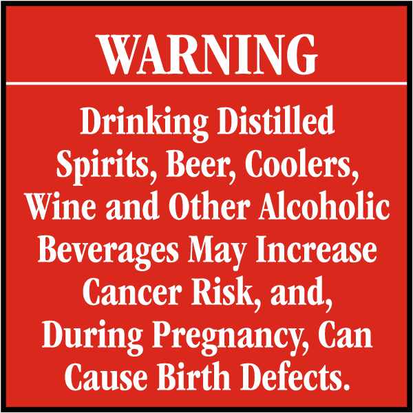 Drinking Distilled Spirits Sign