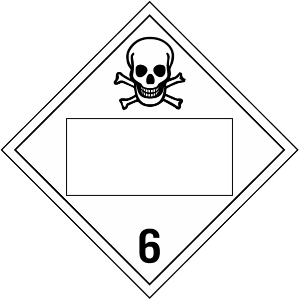Blank Toxic Gas Class 6 Placard