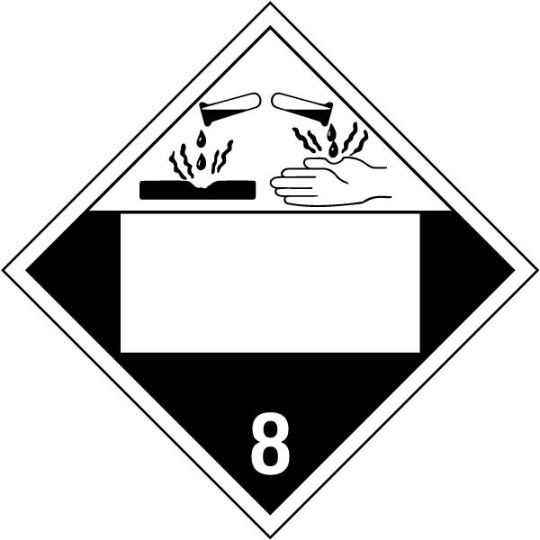 Blank Corrosive Class 8 Placard