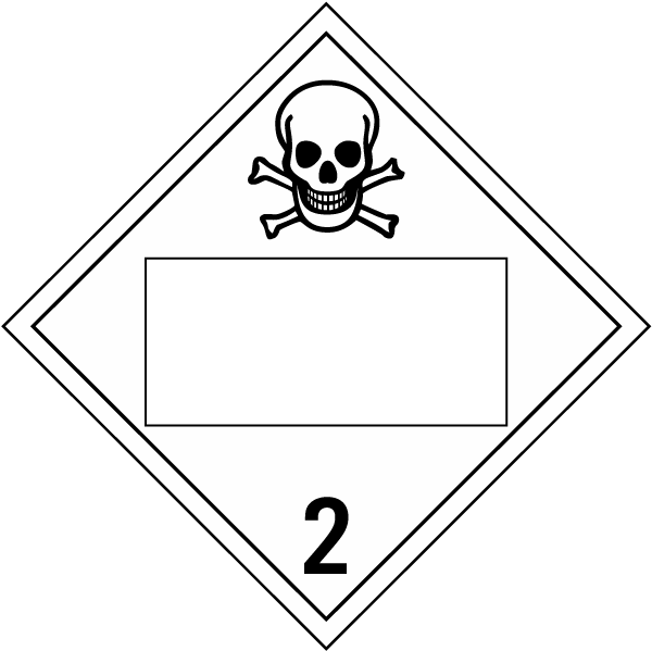 Blank Toxic Gas Class 2 Placard