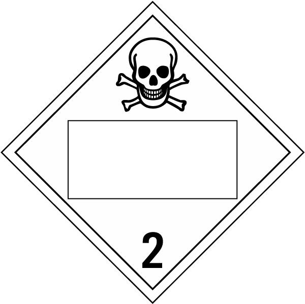 Blank Toxic Gas Class 2 Placard