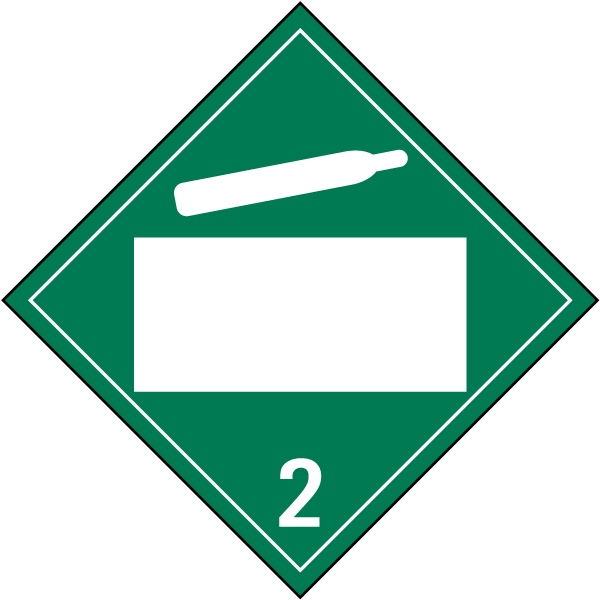 Blank Non-Flammable Gas Class 2 Placard