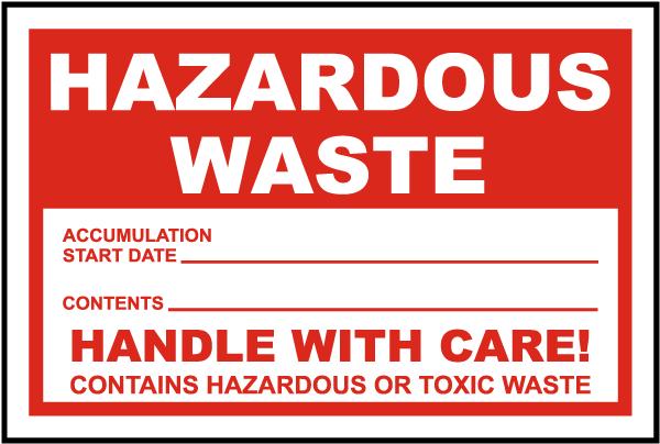 Hazardous Waste Label