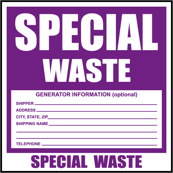 Special Waste Label