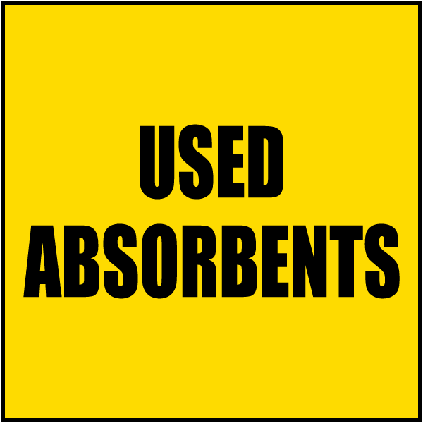 Used Absorbents Label