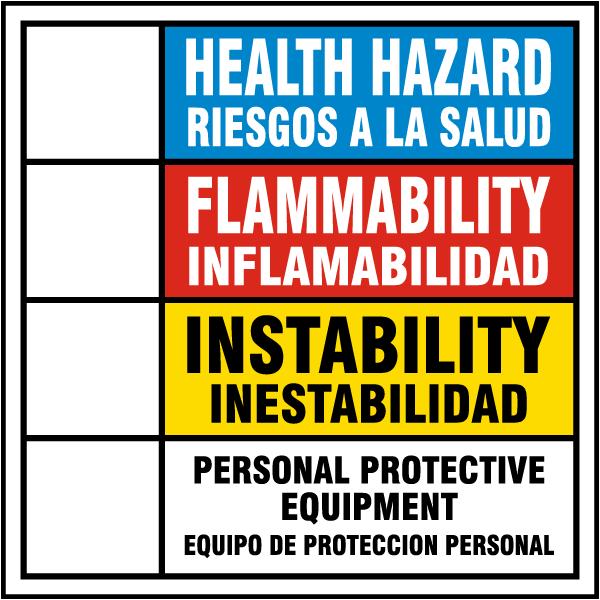 Hazardous Material Diamond: Bilingual Hazardous Material Rating Sign M3329