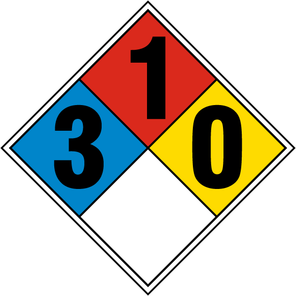 Nfpa Diamond 3 1 0 M3364 By Safetysign Com
