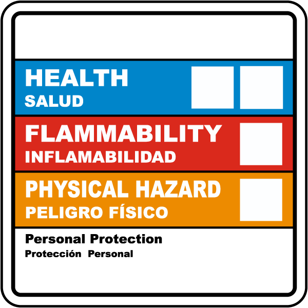 Bilingual Hazardous Material ID Label