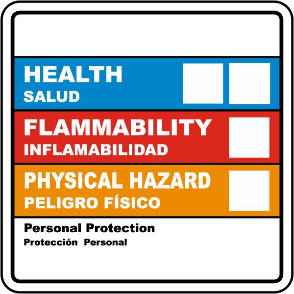 Bilingual Hazardous Material ID Label