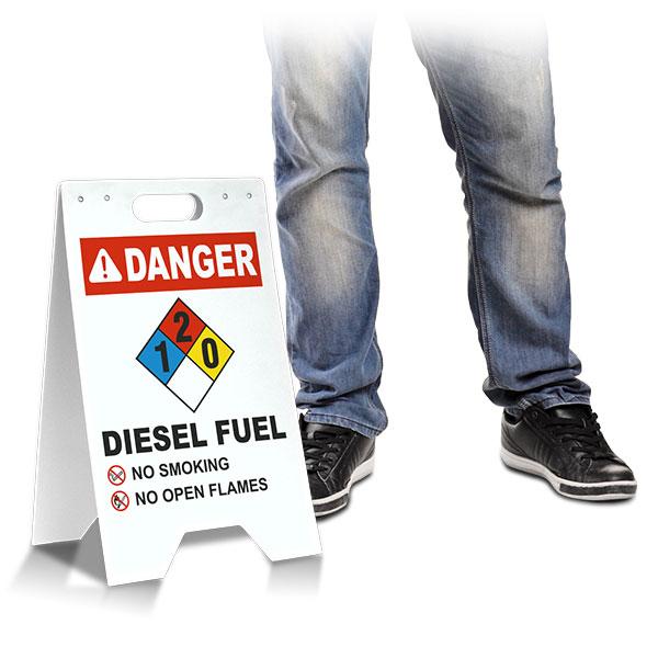 NFPA Diesel Fuel 1-2-0 Floor Stand