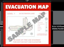 Evacuation Map Holder