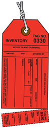 Red Inventory Tag