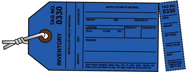 Blue Inventory Tag