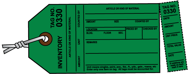 Green Inventory Tag