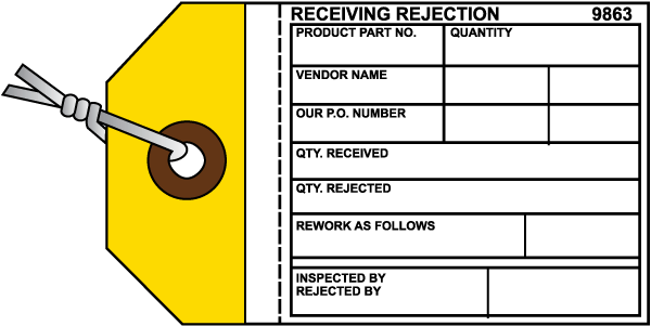 Receiving Rejection Tag
