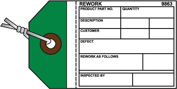 Rework Inventory Tag