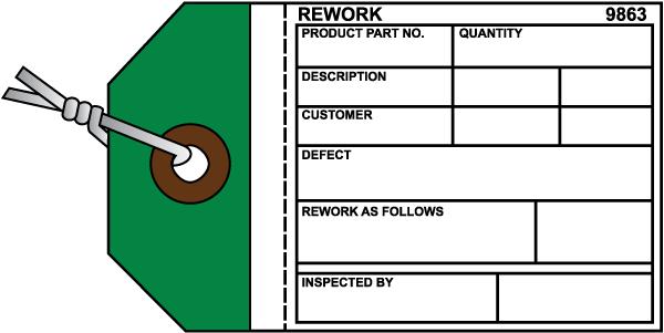 Rework Inventory Tag