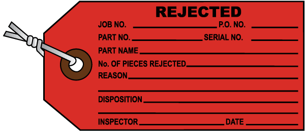 Rejected Inventory Tag