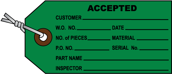 Accepted Inventory Tag