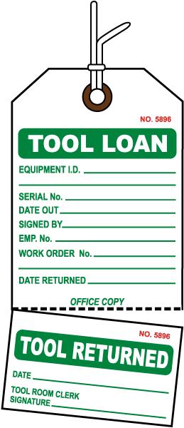 Tool Loan Tag