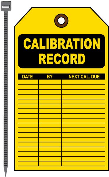 Calibration Record Tag
