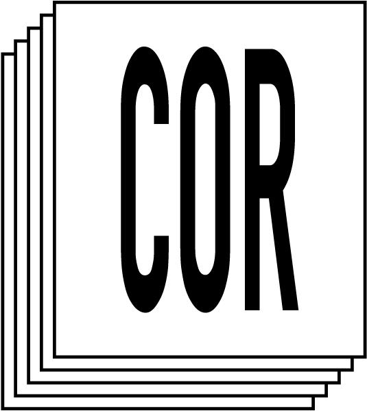 Special Hazard - Corrosive For Blank NFPA Diamond