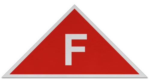 Red / White NJ Floor Truss Sign