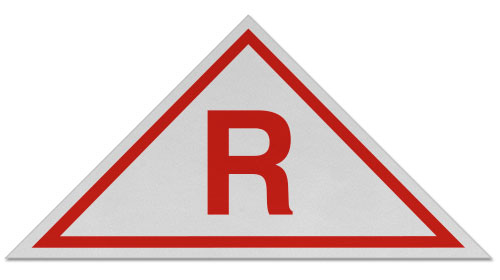 White / Red NJ Roof Truss Sign