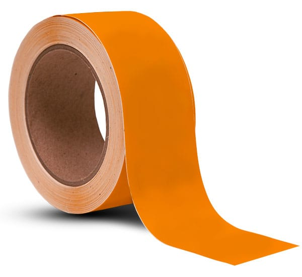 Orange Vinyl Floor Marking Tape