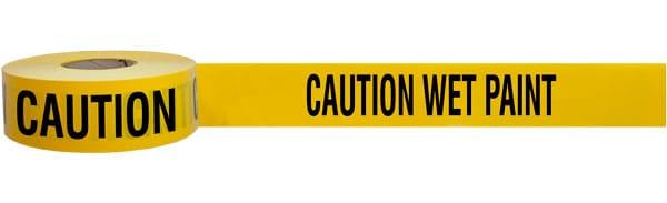 Caution Wet Paint Barricade Tape
