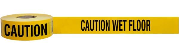 Caution Wet Floor Barricade Tape