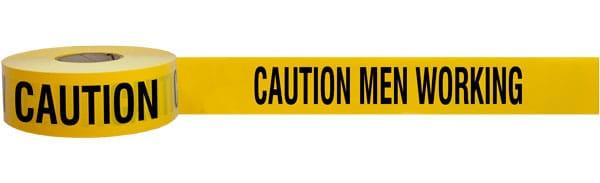 Caution Men Working Barricade Tape