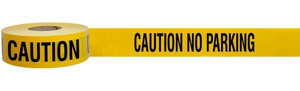 Caution No Parking Barricade Tape