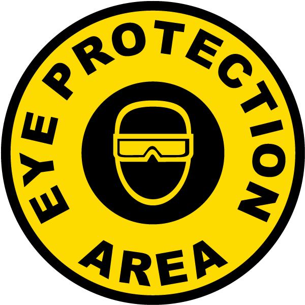 Eye Protection Area Floor Sign